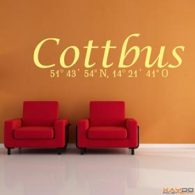 "Wandtattoo ""Stadtname Cottbus"""