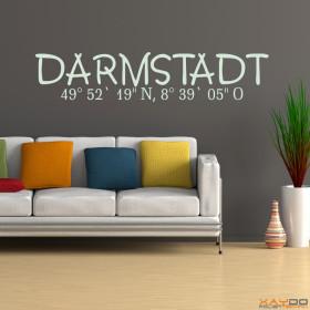 "Wandtattoo ""Stadtname Darmstadt"""
