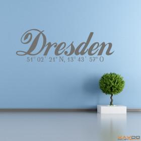 "Wandtattoo ""Stadtname Dresden"""