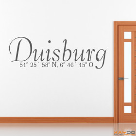 "Wandtattoo ""Stadtname Duisburg"""