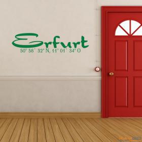 "Wandtattoo ""Stadtname Erfurt"""