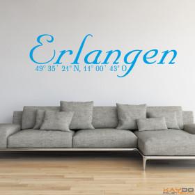 """Wandtattoo """"Stadtname Erlangen"""""""