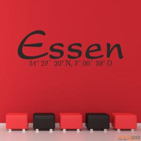"Wandtattoo ""Stadtname Essen"""