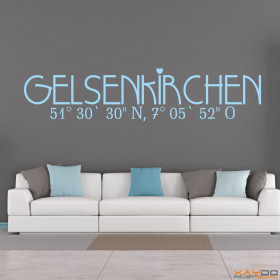"""Wandtattoo """"Stadtname Gelsenkirchen"""""""
