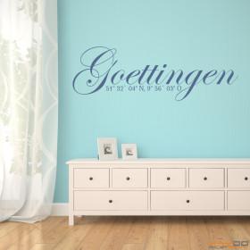"Wandtattoo ""Stadtname Göttingen"""
