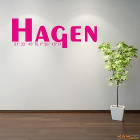 """Wandtattoo """"Stadtname Hagen"""""""