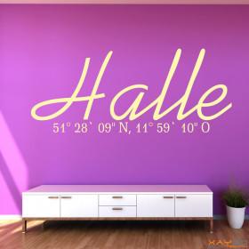 "Wandtattoo ""Stadtname Halle"""