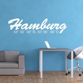 "Wandtattoo ""Stadtname Hamburg"""