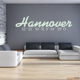 """Wandtattoo """"Stadtname Hannover"""""""