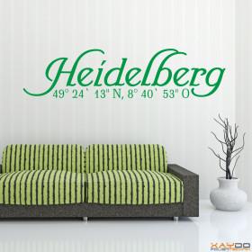 "Wandtattoo ""Stadtname Heidelberg"""