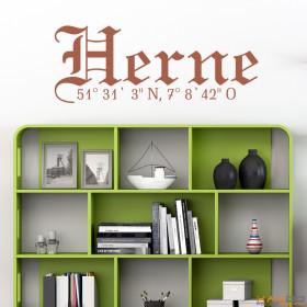 "Wandtattoo ""Stadtname Herne"""