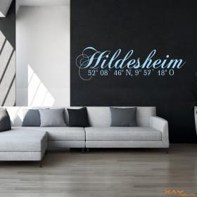 "Wandtattoo ""Stadtname Hildesheim"""