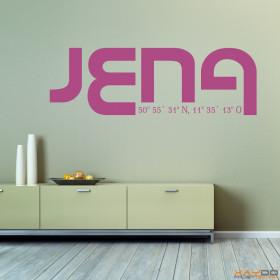 "Wandtattoo ""Stadtname Jena"""