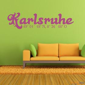 """Wandtattoo """"Stadtname Karlsruhe"""""""