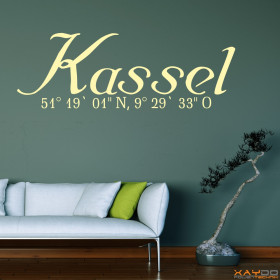 "Wandtattoo ""Stadtname Kassel"""
