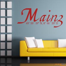 "Wandtattoo ""Stadtname Mainz"""