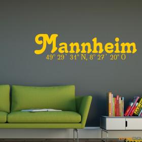 "Wandtattoo ""Stadtname Mannheim"""