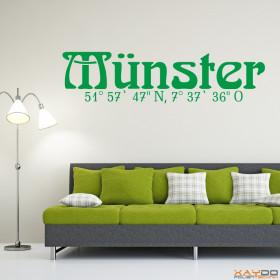 "Wandtattoo ""Stadtname Münster"""