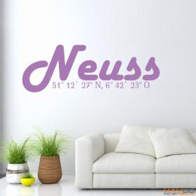 "Wandtattoo ""Stadtname Neuss"""