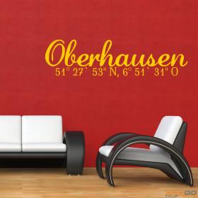 """Wandtattoo """"Stadtname Oberhausen"""""""