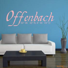 "Wandtattoo ""Stadtname Offenbach"""