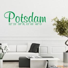"Wandtattoo ""Stadtname Potsdam"""