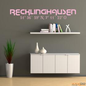 "Wandtattoo ""Stadtname Recklinghausen"""