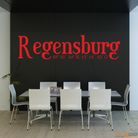 "Wandtattoo ""Stadtname Regensburg"""