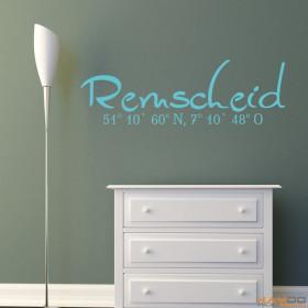 "Wandtattoo ""Stadtname Remscheid"""