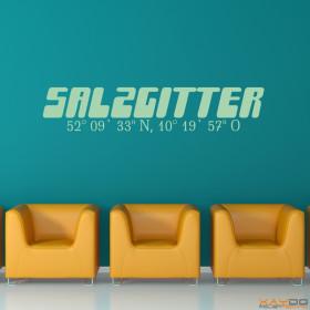 """Wandtattoo """"Stadtname Salzgitter"""""""