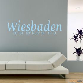 "Wandtattoo ""Stadtname Wiesbaden"""