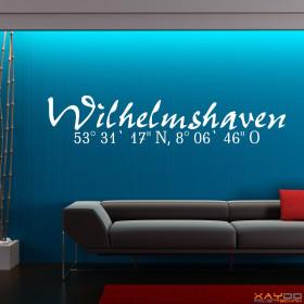 """Wandtattoo """"Stadtname Wilhelmshaven"""""""