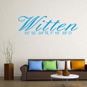 "Wandtattoo ""Stadtname Witten"""
