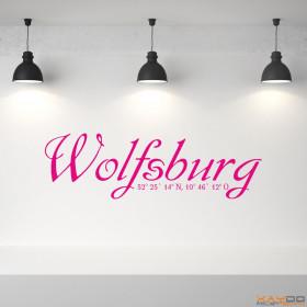 """Wandtattoo """"Stadtname Wolfsburg"""""""