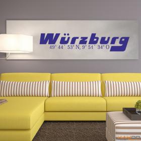 """Wandtattoo """"Stadtname Würzburg"""""""