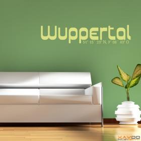 "Wandtattoo ""Stadtname Wuppertal"""