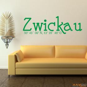 """Wandtattoo """"Stadtname Zwickau"""""""