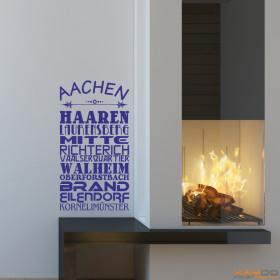 """Wandtattoo """"Stadtviertel Aachen"""""""