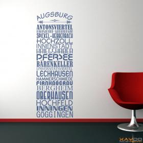 """Wandtattoo """"Stadtviertel Augsburg"""""""