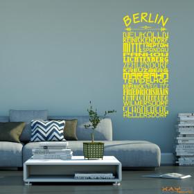 "Wandtattoo ""Stadtviertel Berlin"""