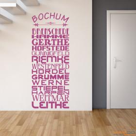 """Wandtattoo """"Stadtviertel Bochum"""""""