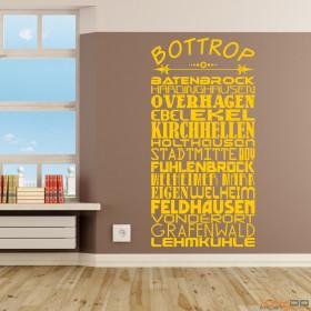 """Wandtattoo """"Stadtviertel Bottrop"""""""