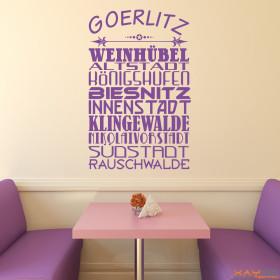 "Wandtattoo ""Stadtviertel Görlitz"""
