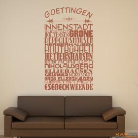 "Wandtattoo ""Stadtviertel Göttingen"""