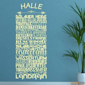 "Wandtattoo ""Stadtviertel Halle"""