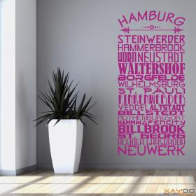 "Wandtattoo ""Stadtviertel Hamburg"""