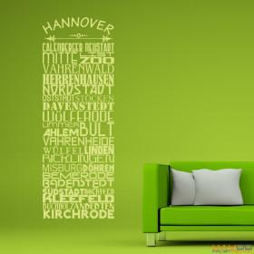 """Wandtattoo """"Stadtviertel Hannover"""""""