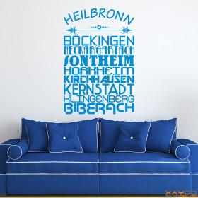 """Wandtattoo """"Stadtviertel Heilbronn"""""""