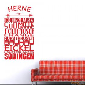 """Wandtattoo """"Stadtviertel Herne"""""""