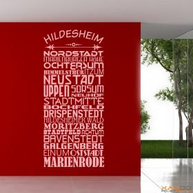 """Wandtattoo """"Stadtviertel Hildesheim"""""""